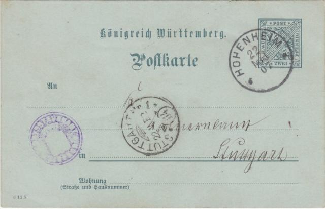 Württemberg - STUTTGART - Briefträgernummernankunftsbestellgangsstempel Img_ko75