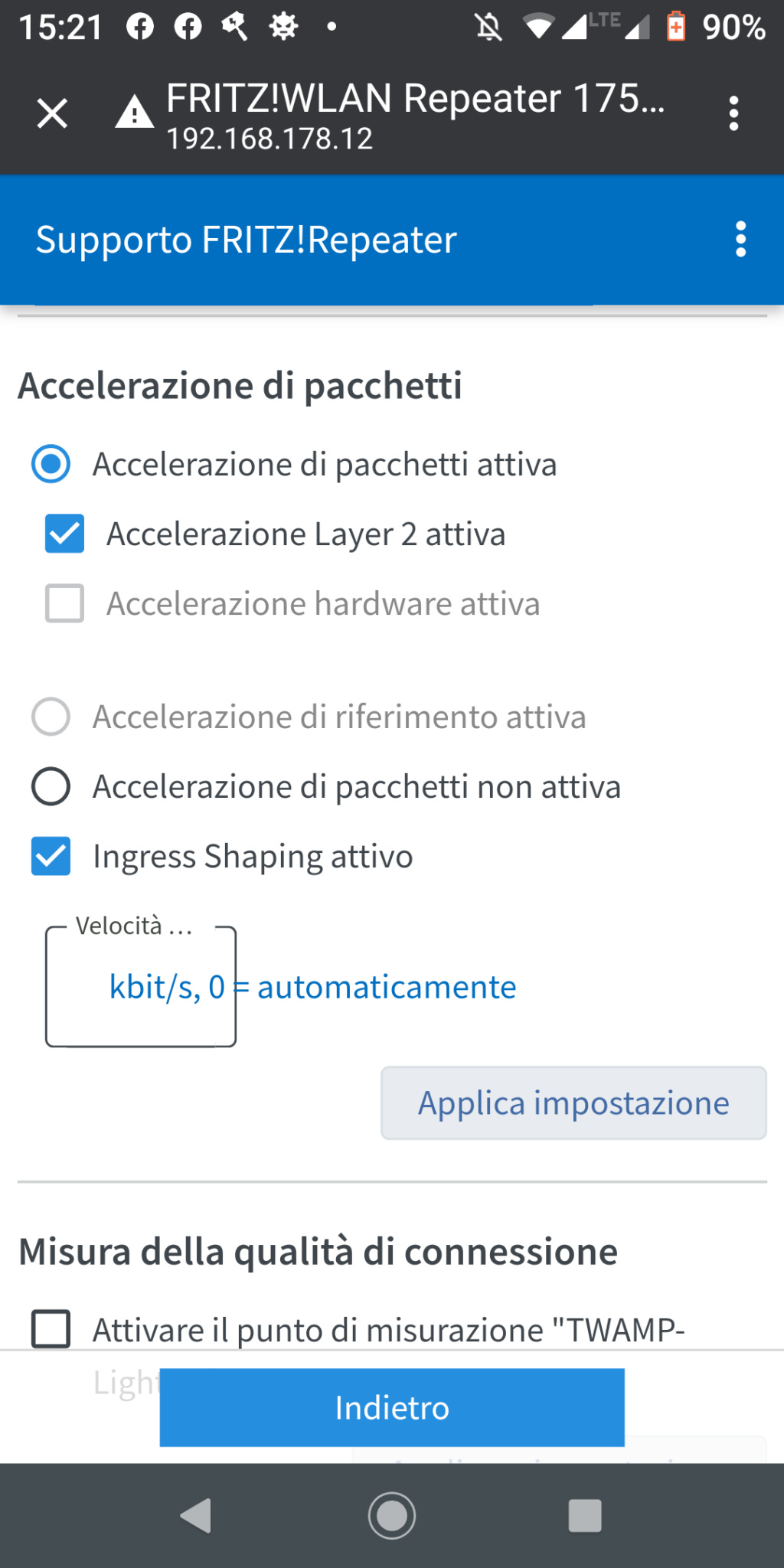 Accelerazione artware Screen12