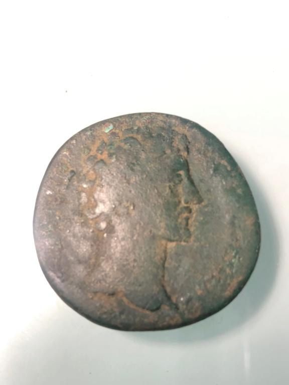 Sestercio de Marco Aurelio. TR POT VII COS II/ S C. Minerva 110