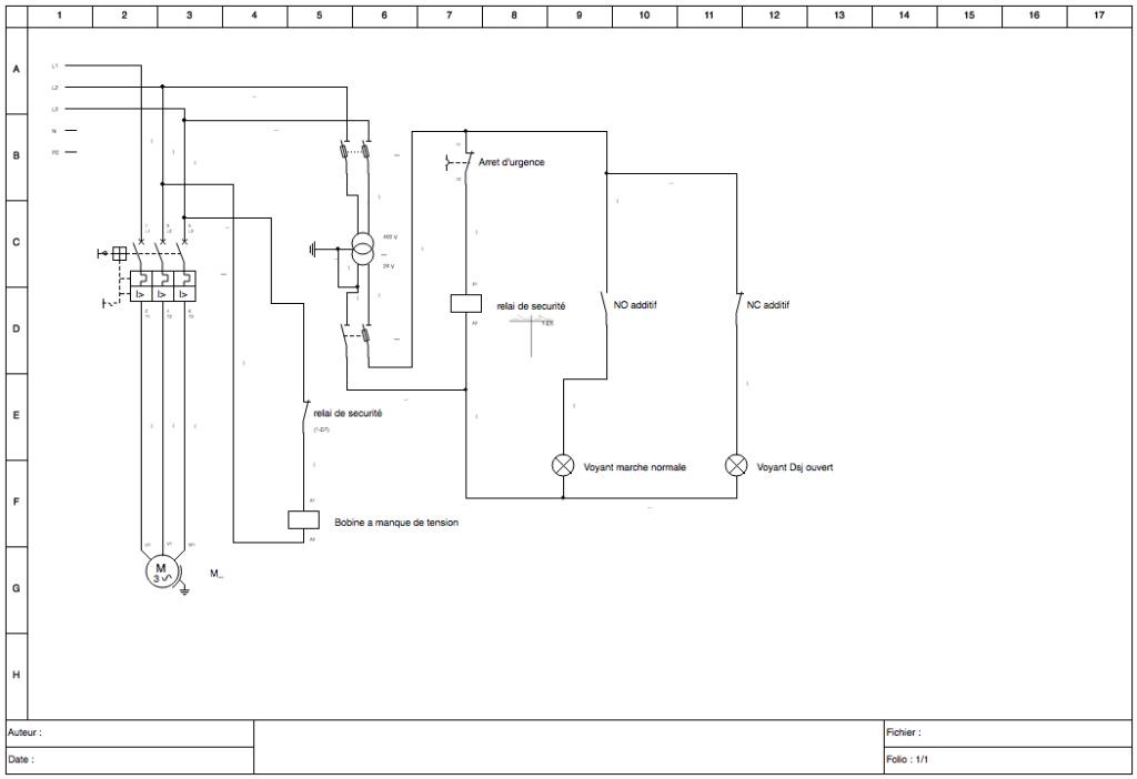 Câblage bobine manque de tension et disjoncteur Schema11