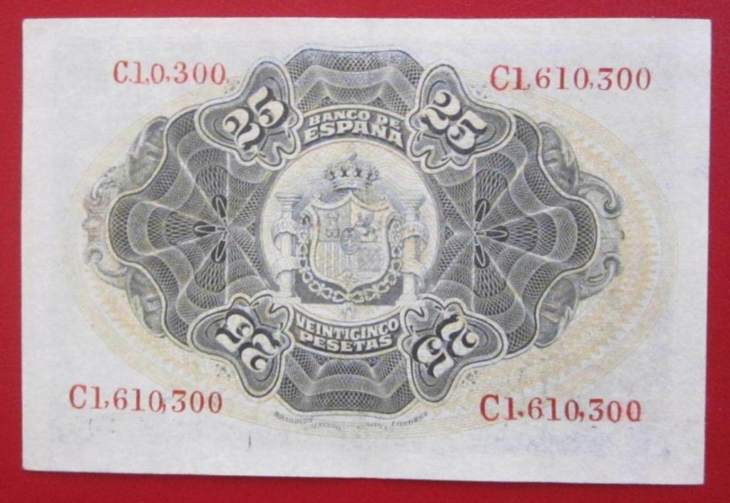 Pillada - 25 Pesetas 1906 Restaurado 25_pts12