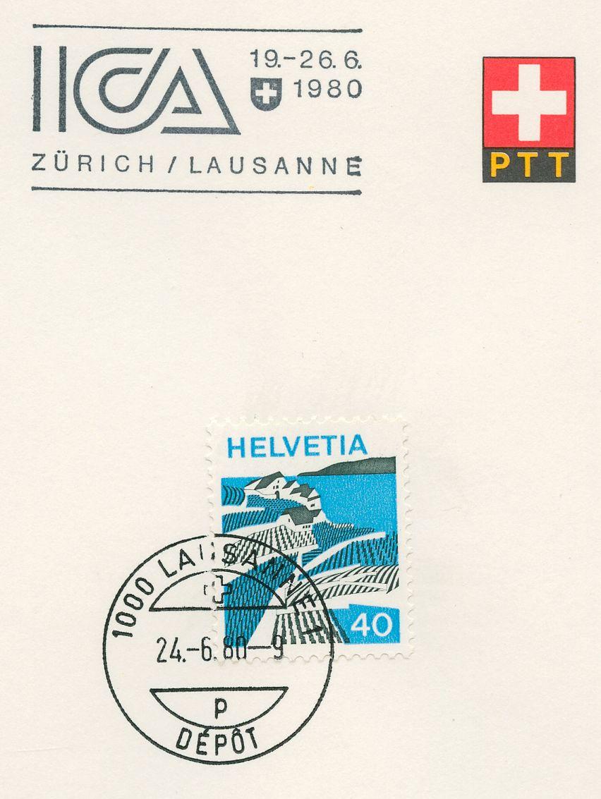 Zusatzstempel ICA 1980 Zürich - Lausanne Lausan10