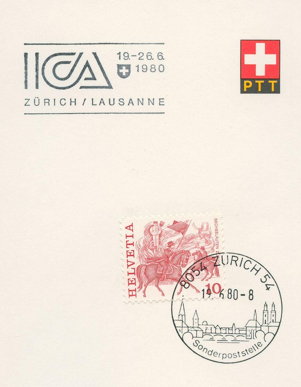 Zusatzstempel ICA 1980 Zürich - Lausanne Zzrich10