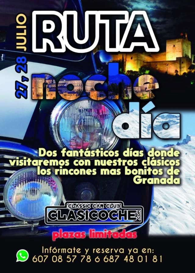 ### X RUTA NOCTURNA CLASICOCHE 2019: NOCHE Y DÍA ### 27/07/2019 Cartel10