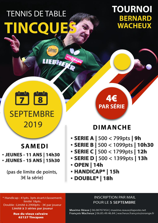 Tournoi du Tennis de Table de TINCQUES Affich10