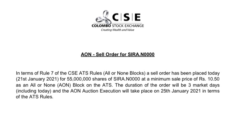 Could SIRA be a jackpot?  C3666510