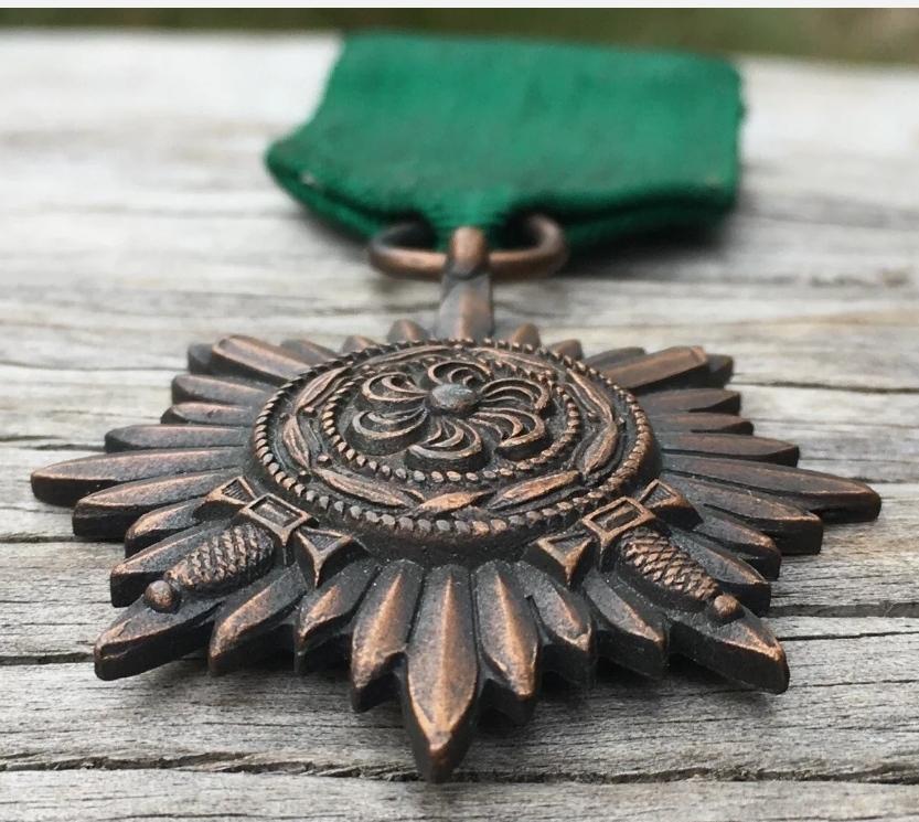 médaille des Volontaires de l'Est 2° classe bronze avec épées avec son ruban d'o Img_2287