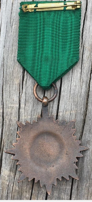 médaille des Volontaires de l'Est 2° classe bronze avec épées avec son ruban d'o Img_2288