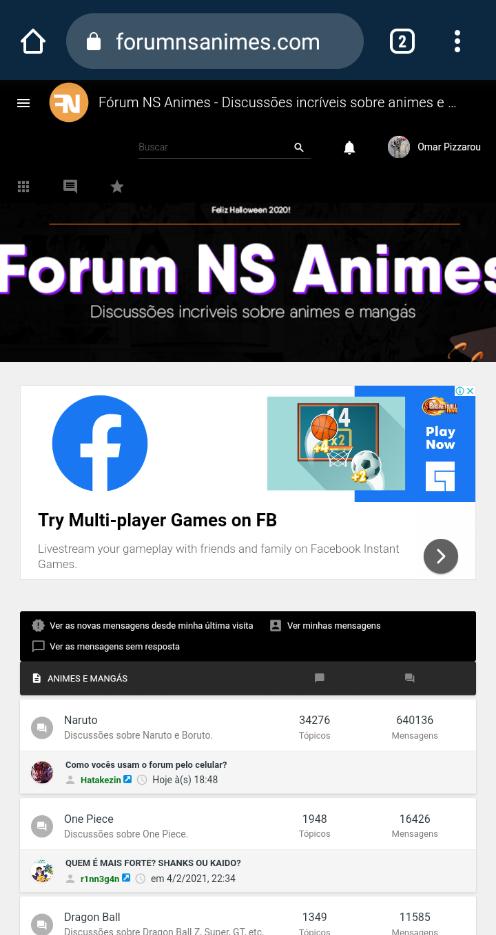 Como vocês usam o forum pelo celular? Screen13
