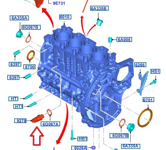 [ Ford Bmax 1.6 tdci 95 an 2013 ] Capteur de pression d'huile Capteu11