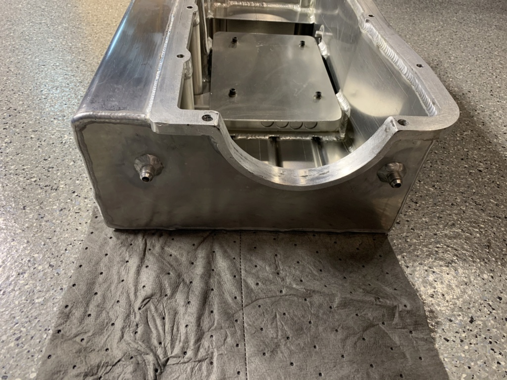 Billet Fabrication Oil Pan and Kaase Pump. SOLD 7270e110