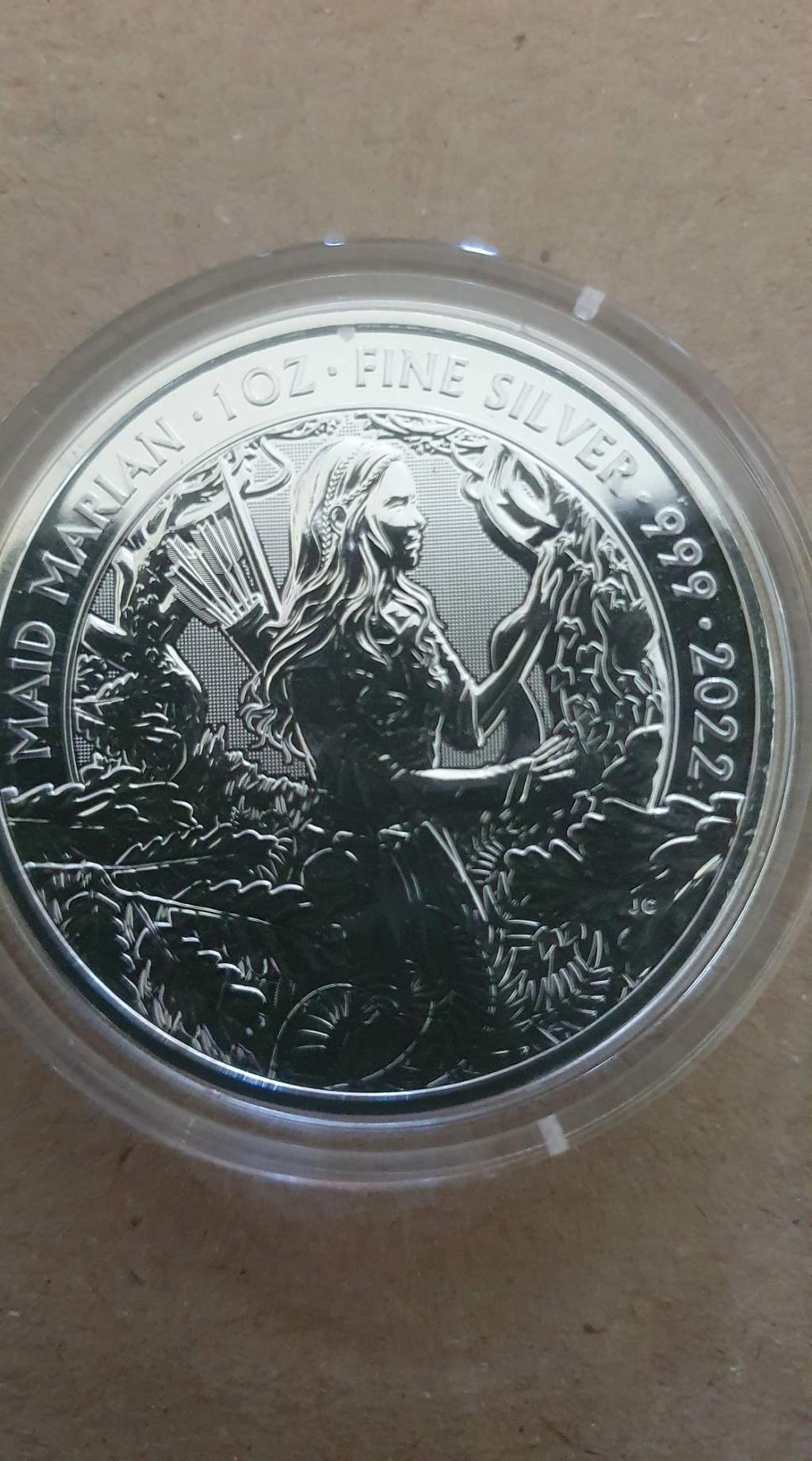 Robin Hood And Maid Marian 1oz Silver Coins  Maid_m10