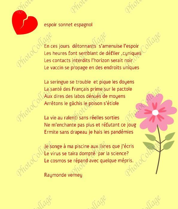 espoir sonnet espagnol Espoir11