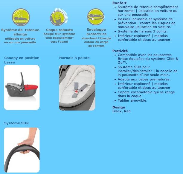 Compatibilité Nacelle Britax / Römer (4 étoiles crash test) Captur11