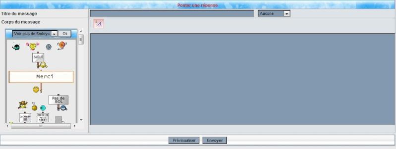 Les boutons de mises en formes des messages ne s'affichent plus Messag10