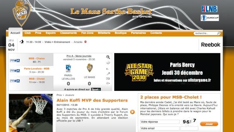 Alain Koffi meilleur joueur du mois d'octobre Unesit10