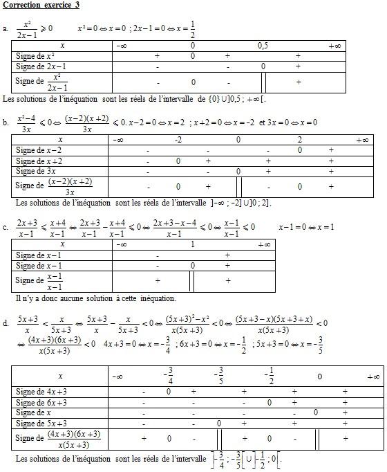 Corrigé de l'exercice 3 du module 1 Effac111