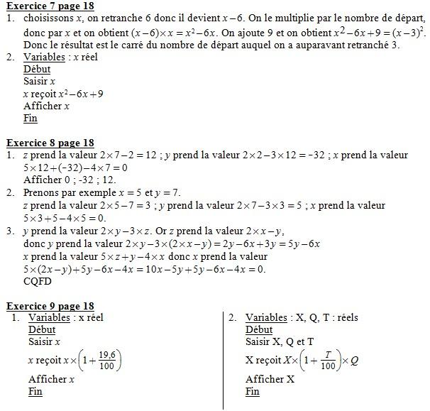 Telecharger Exercice Algorithme 2nde Pdf Corriges Devoir Cahier Fonctions Exercices Corriges Mathematiques Algobox Maths Calculatrice Python Simuler Tableau Nombre Ecrire Depart Intervalles Pdf Exercices Pdf Com