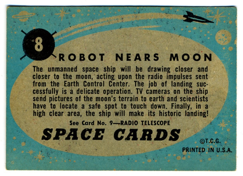 SPACE TRADING CARDS de TOPPS Topp-013