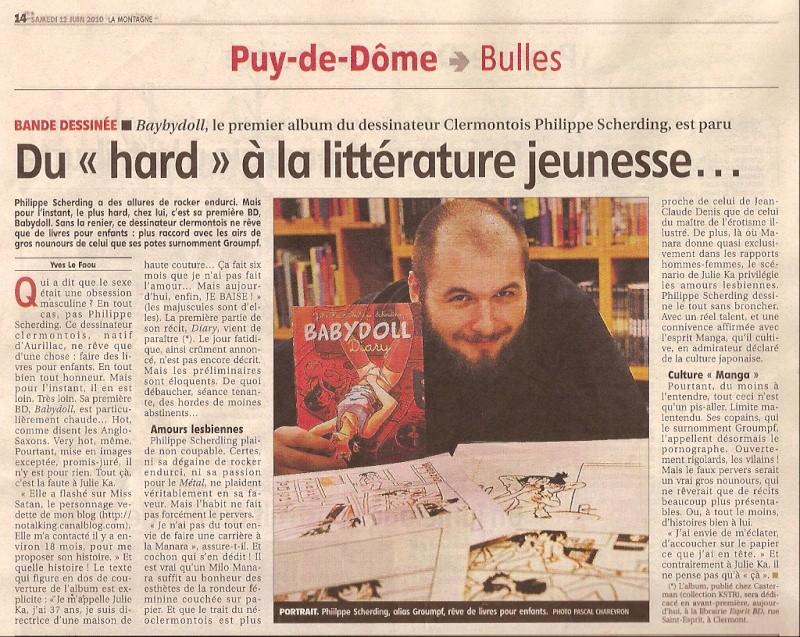 """Dédicace Philippe """"Groumpf"""" Scherding le 12 juin 2010 Sc000313"""