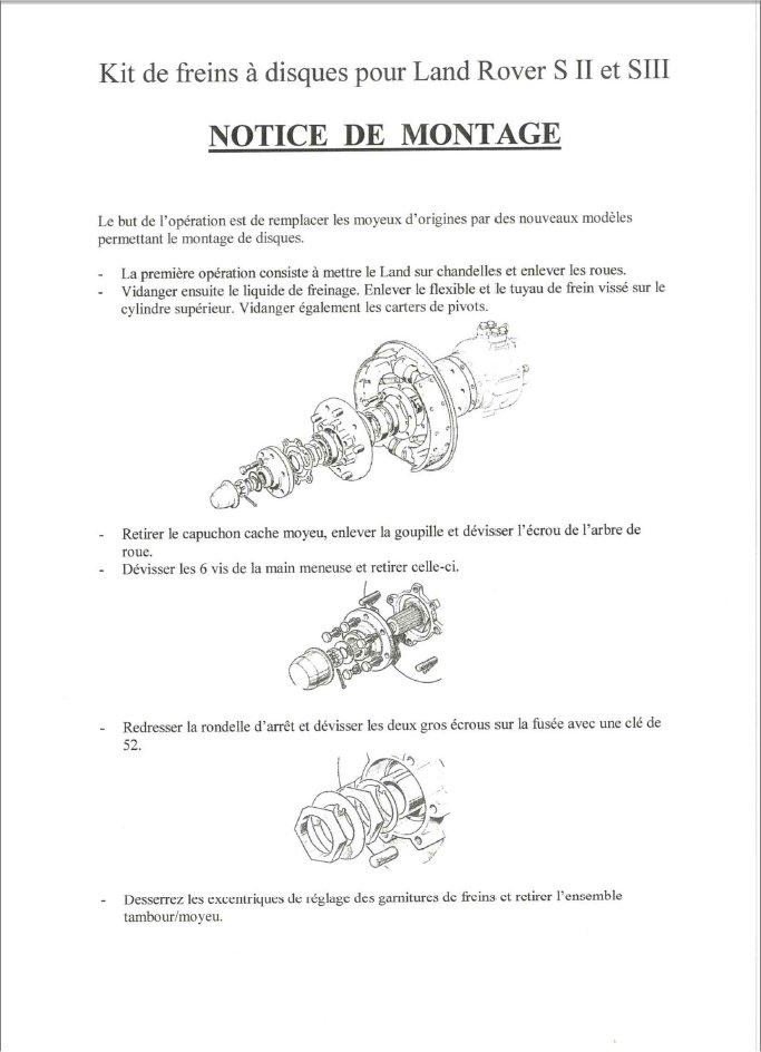 Kit frein a disques Kitfre10