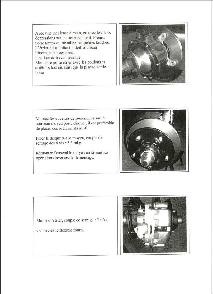 Kit frein a disques Kitfre12