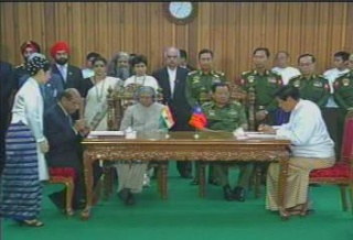 President of the Republic of India Visited  Myanmar in 2006 1312