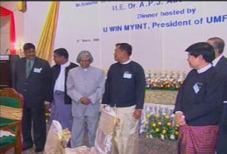President of the Republic of India Visited  Myanmar in 2006 4410