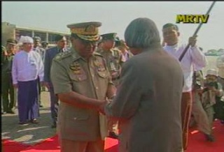 President of the Republic of India Visited  Myanmar in 2006 612