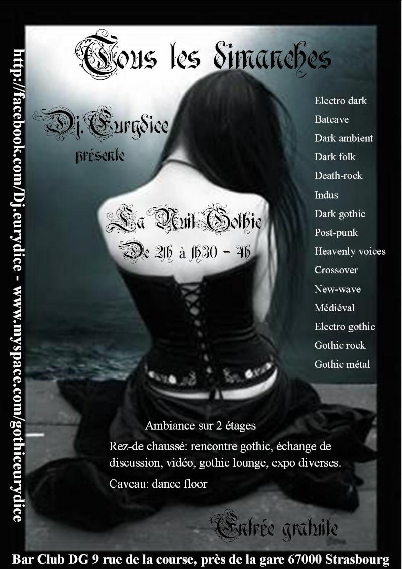 tous les dimanches la nuit gothique à partir du 5 décembre Affich25