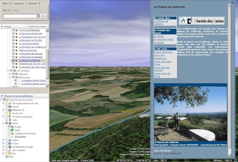 Découvrez le Chemin des Dames sur Google Earth [fichier KMZ pour Google Earth] 1_plat10