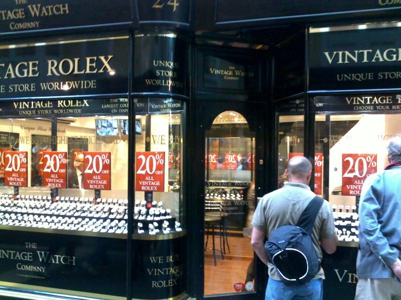La folle boutique Rolex vintage de Londres 10062016