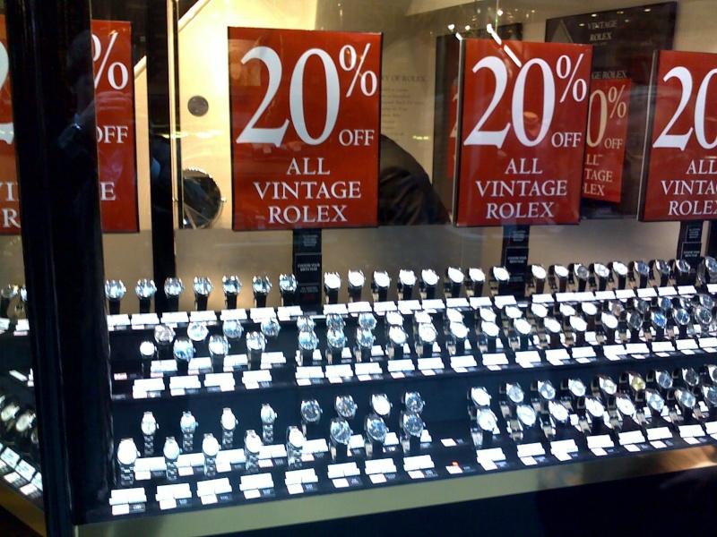 La folle boutique Rolex vintage de Londres 10062017