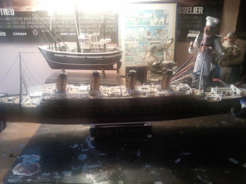 mon titanic au 1/400 et le charles de gaulle 1/400 Photo_15