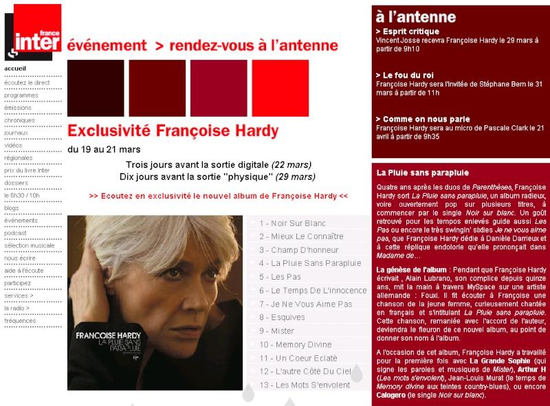 Françoise Hardy en écoute intégrale en avant première ! France10