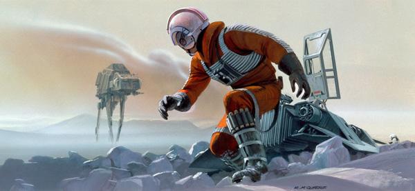 Atrwork - Ralph McQuarrie Concept - Luke on Hoth Luke_o10