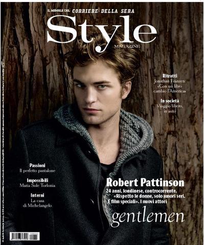 Robert Pattinson dans Style Magazine (Italie) Style_10