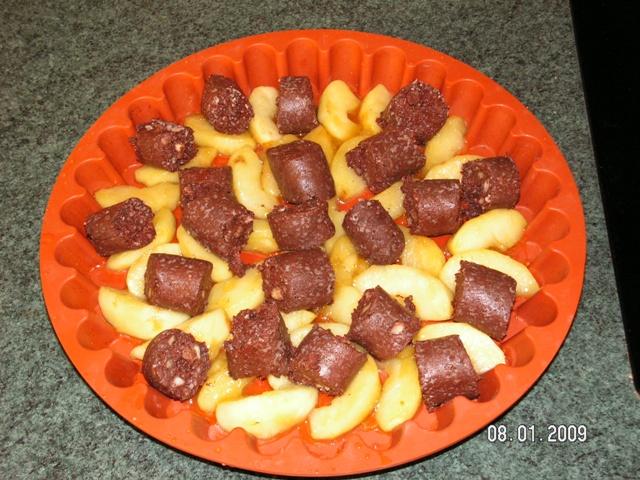 tatin de boudin aux pommes Pict0714