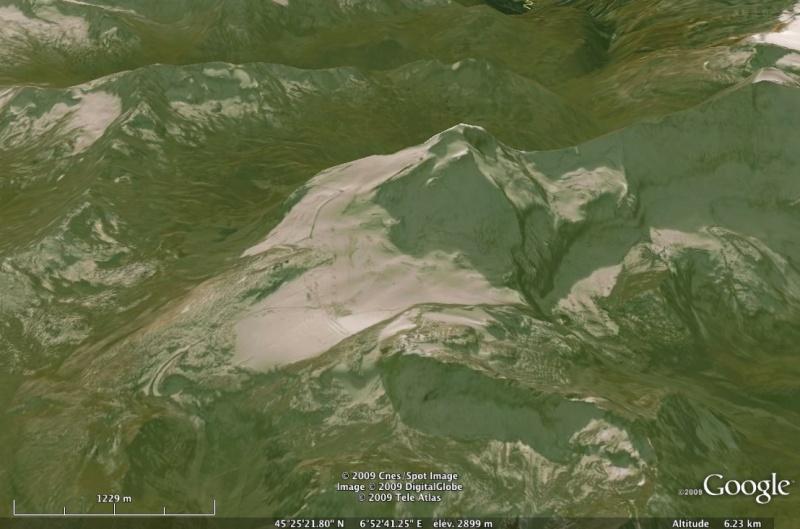 Vues de la Haute-Tarentaise par Google Earth Gmge10