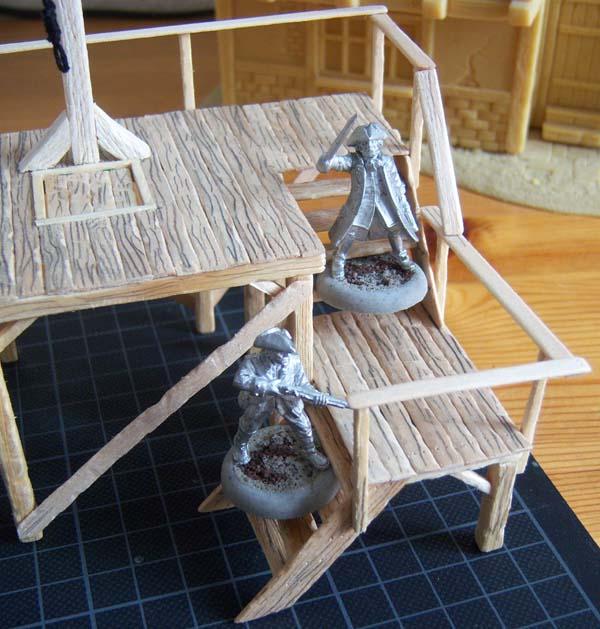 Scratch-built Gallows Steps110