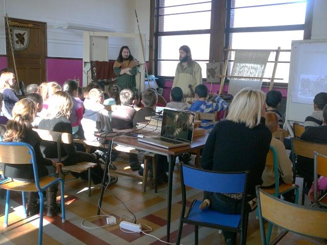 Intervention école de la paix à Mons - Mars 2010 P1130712