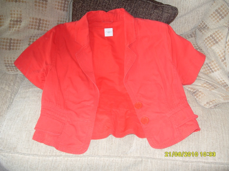 New Look Short Jacket RED - Size 14 New_lo10