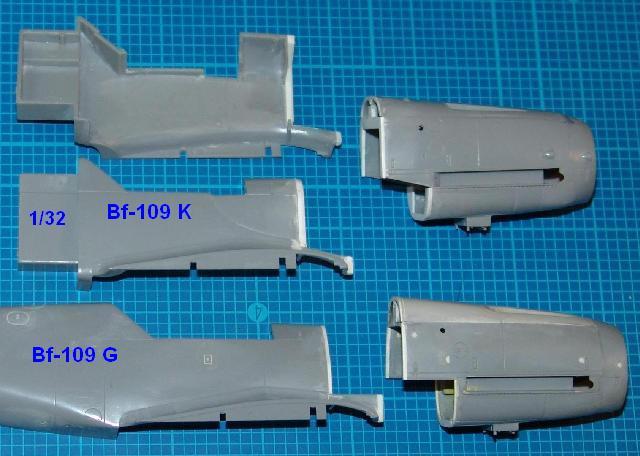 Hasegawa Bf-109 G/K 1/32 (Kits 1ere Génération): Correction de nez 109g-k10