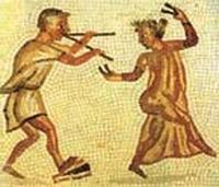 Instrumentos musicales romanos Flauta10
