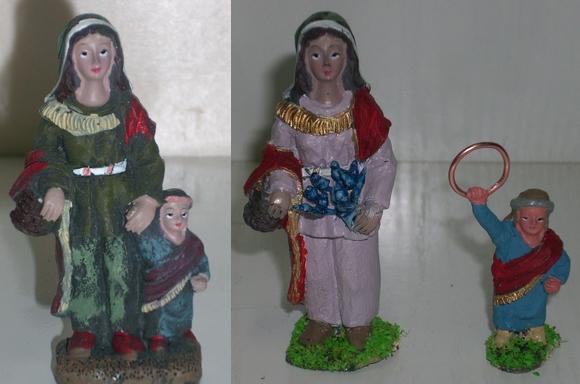Modificación figurita 2 - Mujer y niño I Mh_0310