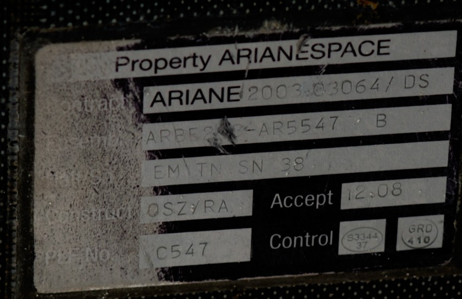 Un débris d'Ariane 5 Origin11