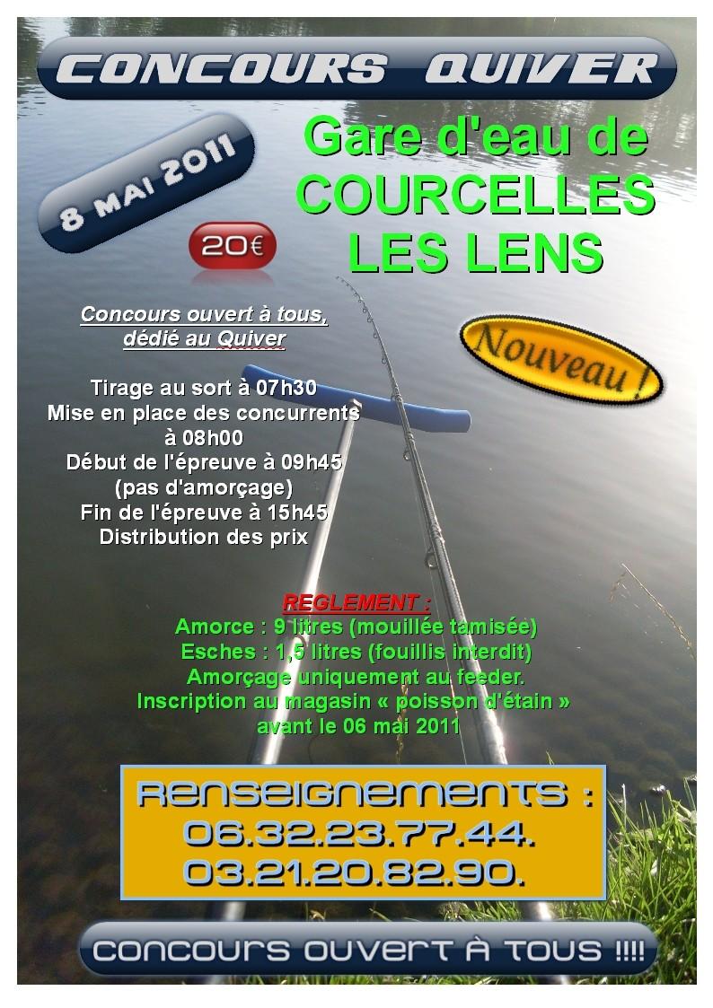 concours Quiver - OUVERT A TOUS - Courcelles les Lens le 8 mai 2011 Affich11
