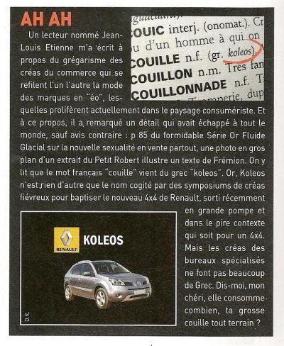 Renault, les rois du marketing. Koleos10