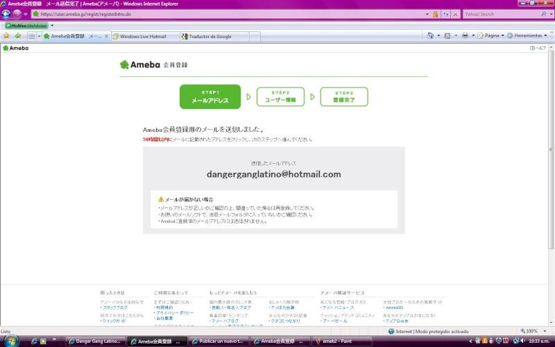 Creando cuenta en el Ameba :3 Ameb310