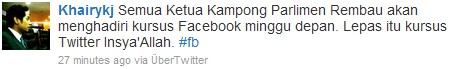 JKKK Ketua Kampung wajib ada facebook Twitter Fb_twi10
